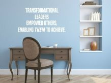 "Wall Quote ""Empower Others..."" Motivational Sticker Leader Decal Decor Transfer"